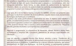 Newsletter_Seminário Pães Especiais_27 de outubro de 2016_Aracajú/SE