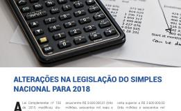 Alterações Simples Nacional 2018