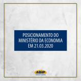 Posicionamento do Ministério da Economia (21.03.2020)
