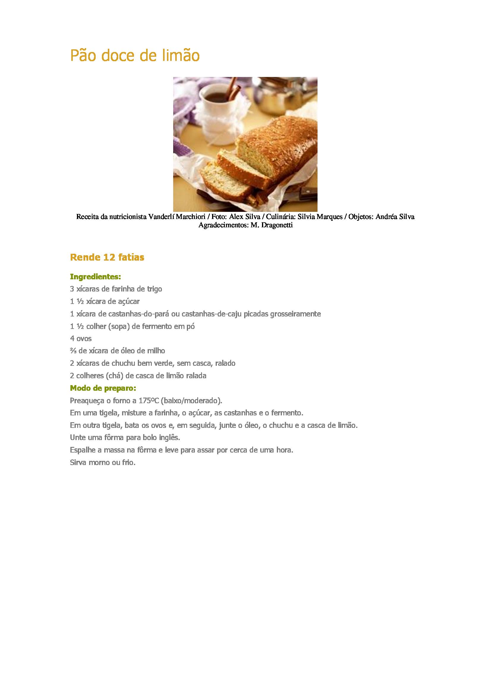 Pão-doce-de-limão